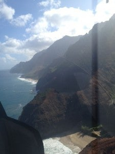 The dramatic Na Pali Coast.