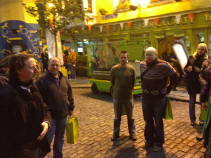 Our musical pub crawl started at Gogarty's Pub in Temple Bar.