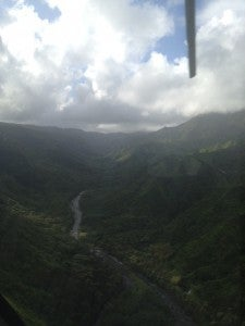 Flying along a beautiful river valley.