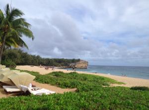 Shipwreck Beach: beautiful but dangerous. I cut my foot!