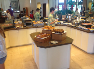 Breakfast on day 2 at the Club Lounge.