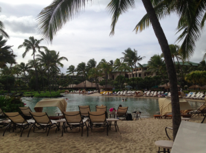 The lagoon pool at the Grand Hyatt.