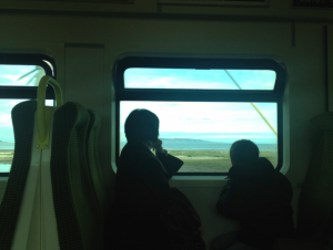 Taking the train to Kiliney Hill.