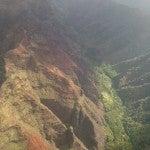 The Waimea Canyon.