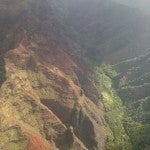 The Waimea Canyon.