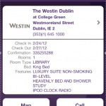 Using the Westin app--my upgrade came through!