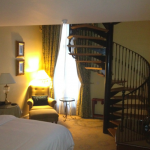 My 2-bedroom Samuel Beckett Suite at the Westin Dublin--basically a two-story library.