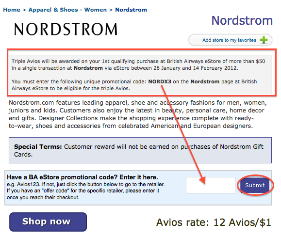 Nordstroms coupon code