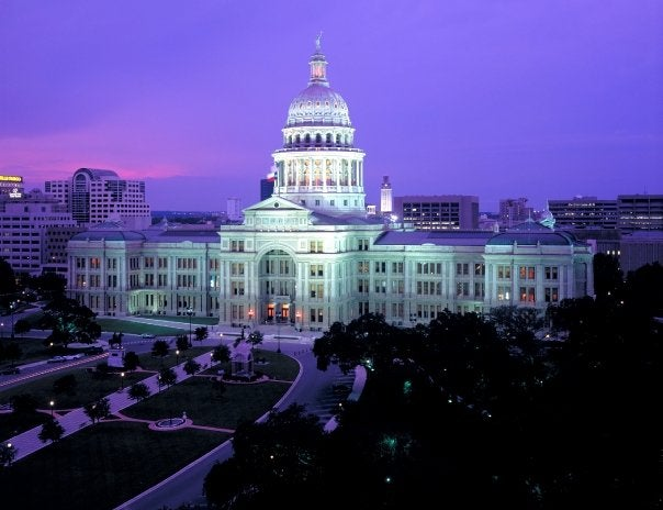 The pink granite state Capitol--everything's bigger in Texas!