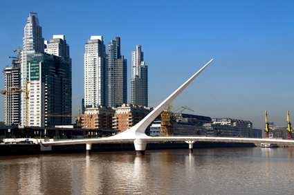 Buenos Aires's Woman's Bridge designed by Santiago Calatrava.