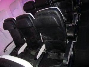 A row of regular Main Cabin seats.