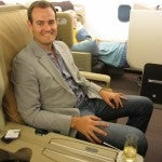 Found my seat! I'm excited to be flying in Singapore's all-business class A340-500.