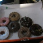An assortment of Dunkin' Donuts served as a snack.