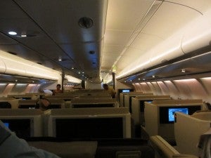 A shot down the main cabin as we deplane.