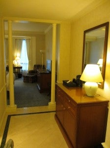 Even the standard had a small entryway area.
