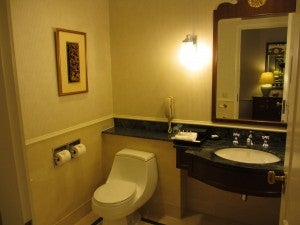 Another angle on the standard bathroom.