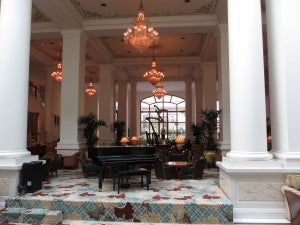 Another view of the Intercontinental's lobby--very grand!