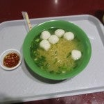 Fish ball soup with noodles at the Hawker Centre--great way to start the day.