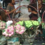 A flower shop in Bangkok.