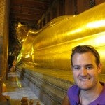 TPG with the Reclining Buddha.