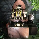 One of the temple altars.