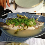 Gorgeous red snapper dish at Mango Tree.