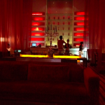 The lounge at the Paragon movie theater.