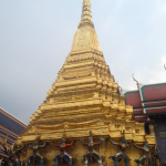 Whoa--what an ornate golden stupa at the Grand Palace.