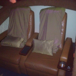 Movie seats at the Paragon movie theater.