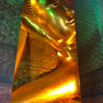 Just a glimpse of the enormous Reclining Buddha at Wat Pho.