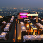 Sirocco's rooftop dining area at lebua State Tower, 63 stories above the city.