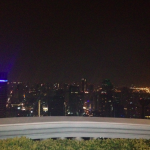 The nighttime view from my table at Sirocco.