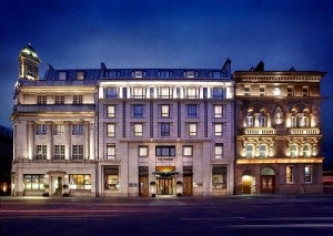 The historic exterior of the Westin Dublin.
