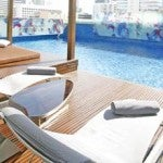 Le Meridien's pool, adjacent to the small spa.