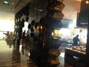 Entrance to Tempo restaurant on the second level looking over the lobby