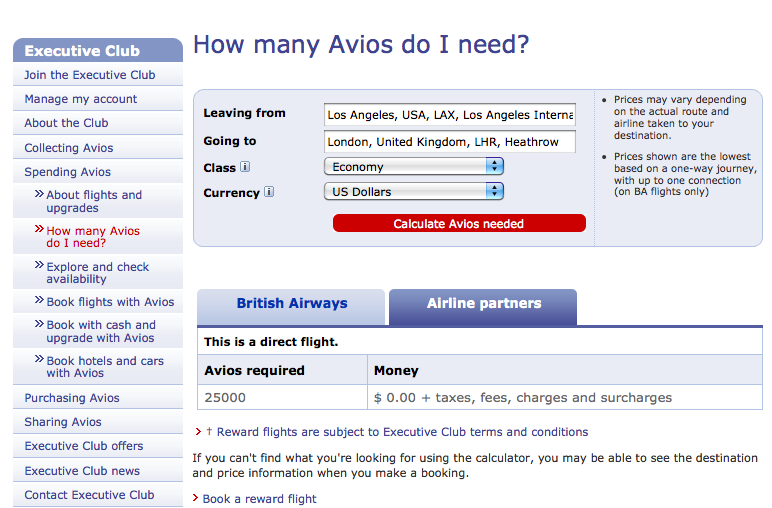 You Can Also Use The Avios Calculator Have To Enter Your City Pairs Find Out How Many Not Including Ta Fees Charges And Surcharges It