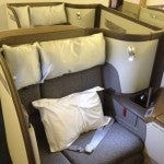 Seat 1D in Cathay Pacific First Class.