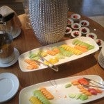 Paltry fruit plates at the Platinum breakfast spread.
