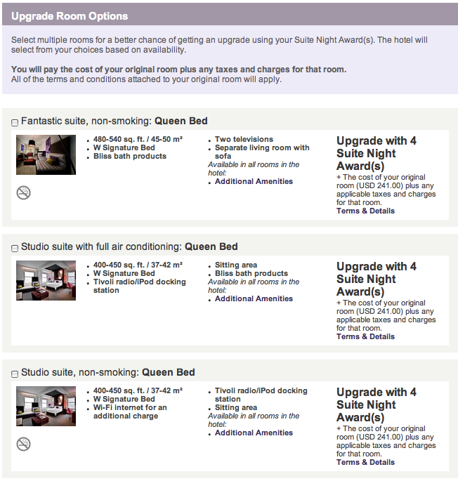 Spg Booking Multiple Rooms