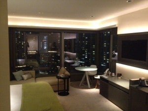"""The W """"Cool Corner Room"""" I was upgraded to in Hong Kong - the first one reeked of smoke!"""