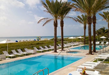 The Marriott's infinity pools.