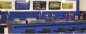 Airport lounges are a great place for frequent fliers to wok or relax at the airport.