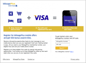 500 Free United Miles With Visa Mobile Offers Sign-up