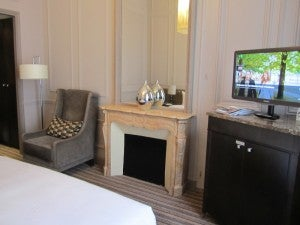 I liked the armchair and fireplace (even though it didn't work) with marble mantel and mirror in my room.