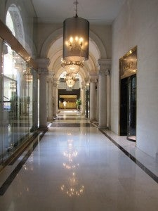 The palatial entry foyer with reception at the very end.