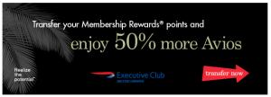 50% British Airways Transfer Bonus With Canadian Amex Membership Rewards
