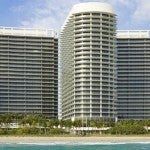 The massive new St. Regis Bal Harbour complex contains a hotel and two residential towers.