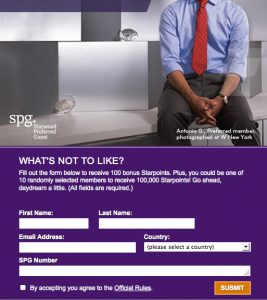 100 Free Starwood Preferred Guest Points