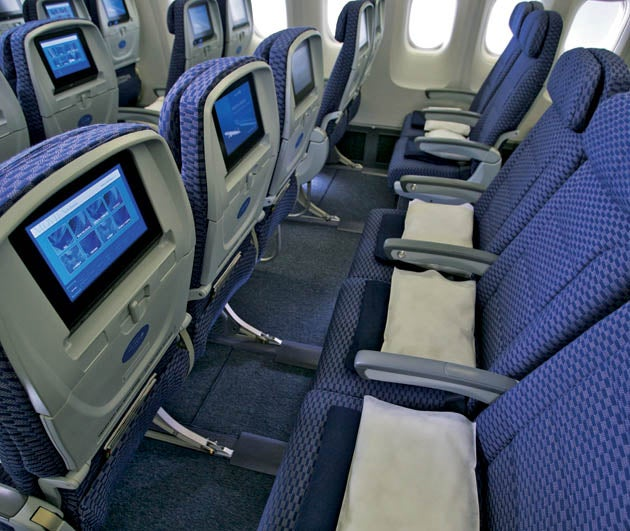 Which aircraft has best economy plus option