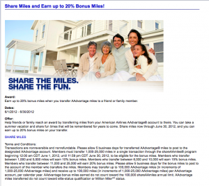 20% Bonus on American Airlines Miles Transfers – Worth It?